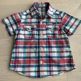 DOUBLE.B - ダブルビー  半袖チェックシャツ