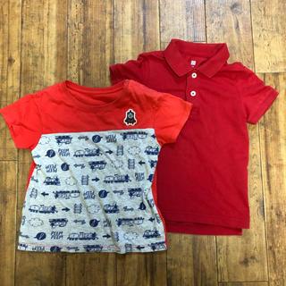 UNIQLO - 100サイズ ユニクロ Tシャツ ポロシャツ トーマス 2枚セット 赤