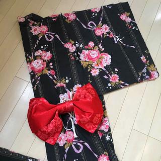 浴衣 総丈160cm 美品 レディース 花柄(浴衣)