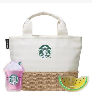 Starbucks Coffee - スタバ☆保冷トートバック&保冷剤セット☆
