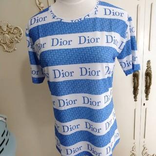 Christian Dior - ロゴ入りTシャツ ブルー系