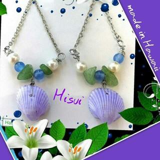 H.P.FRANCE - 新品 翡翠 ピアス Hawaii購入  あまりに可愛い 上品色はお顔を綺麗に映す