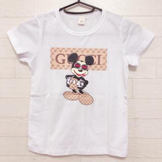 新品 韓国子供服 110 ミッキーTシャツ ホワイト