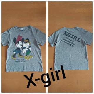 X-girl - エックスガール★ミッキー&ミニーコラボTシャツ