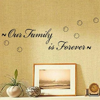 ✨✦新品超特価✦大人気インテリアウォールステッカー✨私たち家族は永遠✨