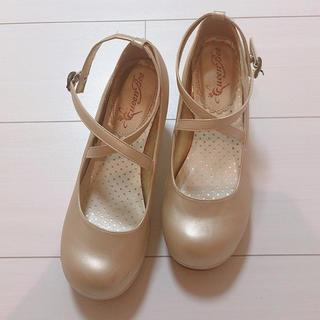 アンジェリックプリティー(Angelic Pretty)のシャンパンゴールド ロリータ おでこ靴(ハイヒール/パンプス)