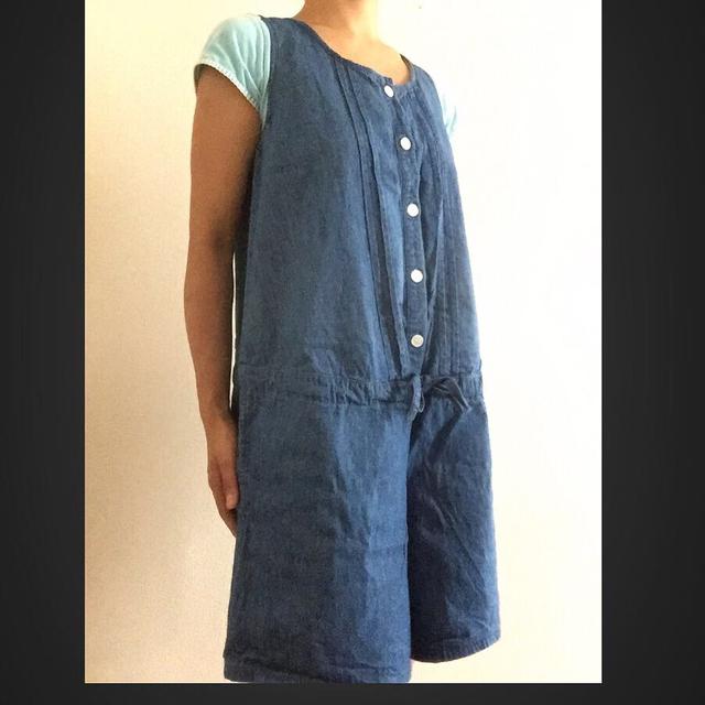 MUJI (無印良品)(ムジルシリョウヒン)の無印良品 妊婦服 サロペット♡ キッズ/ベビー/マタニティのマタニティ(マタニティトップス)の商品写真