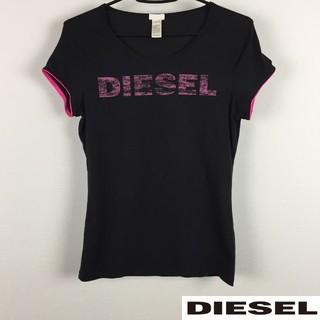 DIESEL - 美品 DIESEL ディーゼル 半袖Tシャツ レディース ブラック サイズM