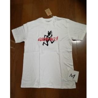 グラミチ(GRAMICCI)のGRAMICCI サイズM 最新定番ロゴプリントT 白M 未使用タグ付き(Tシャツ/カットソー(半袖/袖なし))