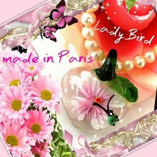 H.P.FRANCE - 新品 Glass art てんとう虫ネックレス フランス製 美しい パリ購入品