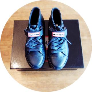 ハンター(HUNTER)の【新品】HUNTER MILLBANK KIDS 【17cm】ネイビー(長靴/レインシューズ)