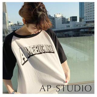 アパルトモンドゥーズィエムクラス(L'Appartement DEUXIEME CLASSE)のAP STUDIOアメリカーナラグランTシャツ(Tシャツ(長袖/七分))