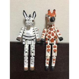 ニコアンド(niko and...)のniko and ... ウッドアニマルトイ(シマウマ+キリン)(置物)