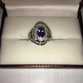 指輪 18金 wg ブルー タンザナイト(リング(指輪))