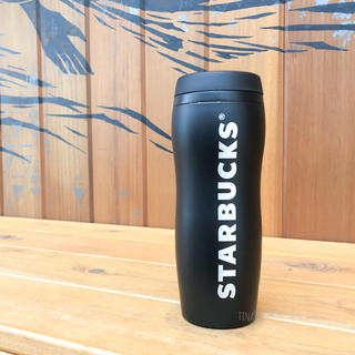 スターバックスコーヒー(Starbucks Coffee)のスターバックス カーヴドステンレスボトル タンブラー 黒 スタバ マットブラック(タンブラー)