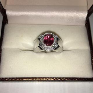 指輪 18金 wg ピンク サファイア(リング(指輪))