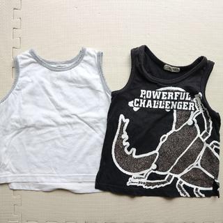ムジルシリョウヒン(MUJI (無印良品))の90-100cmタンクトップ二枚(Tシャツ/カットソー)