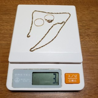 k18刻印 ジャンク 指輪 ネックレス