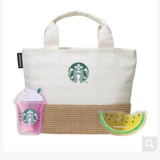Starbucks Coffee - 新品未使用♡スタバ 保冷トートバッグとオリジナルデザインの保冷剤