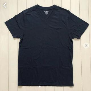 オールドネイビー(Old Navy)のOLD NAVY Vネック Tシャツ ネイビー(Tシャツ/カットソー(半袖/袖なし))