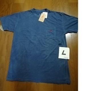 グラミチ(GRAMICCI)のGRAMICCI  最新ワンポイント刺繍ロゴポケT  ネイビーL 未使用タグ付き(Tシャツ/カットソー(半袖/袖なし))