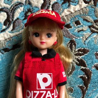 タカラトミー(Takara Tomy)のレア 廃盤ピザーラの制服を着たリカちゃん(ぬいぐるみ/人形)