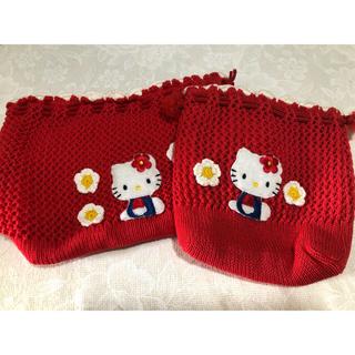ハローキティ - 手編み風、キティちゃん、お弁当箱入れ