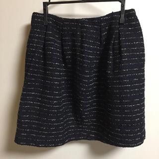 スピックアンドスパン(Spick and Span)のSpick & span ツイードスカート(ひざ丈スカート)