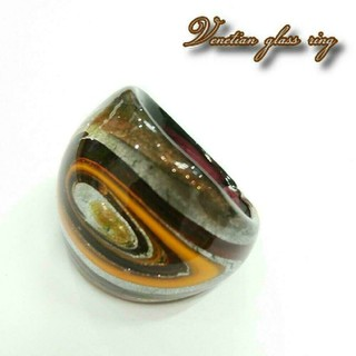 VR48 宇宙模様 ベネチアン ガラス リング ベネチアリング 指輪(リング(指輪))