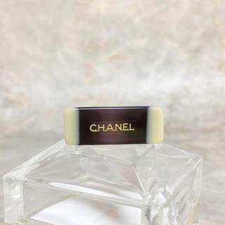 シャネル(CHANEL)の正規品 シャネル 指輪 ゴールド バイカラー アルファベット パープル リング(リング(指輪))
