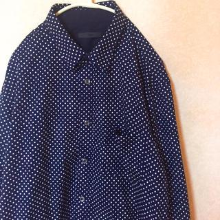 ハレ(HARE)の【フォロー割有り】HARE ドット柄 ネイビー  紺色 七分袖(シャツ)