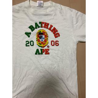 アベイシングエイプ(A BATHING APE)の激レアMサイズ!初期 BAPEポルトガル国旗カレッジ猿Tシャツ(Tシャツ/カットソー(半袖/袖なし))
