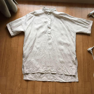 MUJI (無印良品) - 無印良品レディース半袖シャツ麻100%値下げ不可
