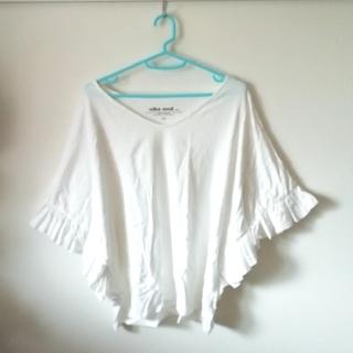 ニコアンド(niko and...)のniko and ... 綿フリル袖 ワイドTシャツ(Tシャツ(半袖/袖なし))