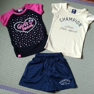 チャンピオン(Champion)の女の子110cm 半袖 短パン セット(Tシャツ/カットソー)