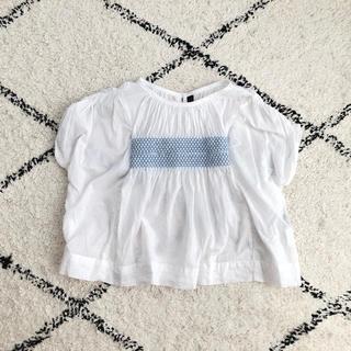 マーキーズ(MARKEY'S)のマーキーズ MARKEY'S 刺繍 トップス カットソー 100 ホワイト 白(Tシャツ/カットソー)