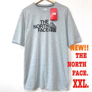 ザノースフェイス(THE NORTH FACE)のXXL相当 新品 ノースフェイス FOTO Tシャツ ライトグレー(Tシャツ/カットソー(半袖/袖なし))