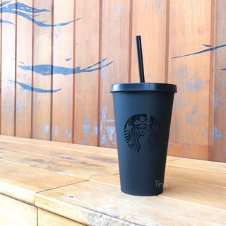 スターバックスコーヒー(Starbucks Coffee)の残1 スターバックス ロゴコールドカップ タンブラー 黒 スタバ マットブラック(タンブラー)