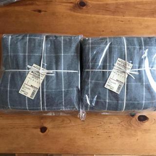 ムジルシリョウヒン(MUJI (無印良品))の新品 無印良品 掛ふとんカバー シングルサイズ 杢グレーチェック 2枚(シーツ/カバー)
