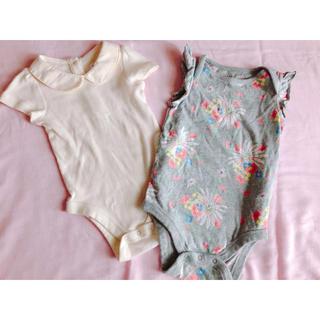 ベビーギャップ(babyGAP)のbaby GAP 半袖ロンパース 2枚セット(ロンパース)