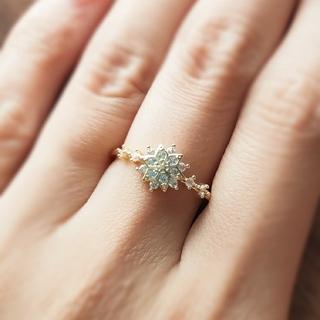 agete - メレ ダイアモンド*ゴールド*リング*指輪