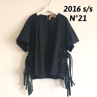 ヌメロヴェントゥーノ(N°21)の2016s/s N°21 サイドリボンブラウス ヌメロヴェントゥーノ(シャツ/ブラウス(半袖/袖なし))