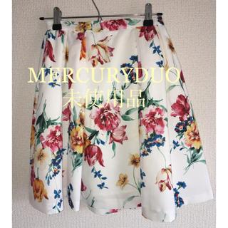 マーキュリーデュオ(MERCURYDUO)のマーキュリーデュオ 花柄ミニスカート 未使用品(ミニスカート)
