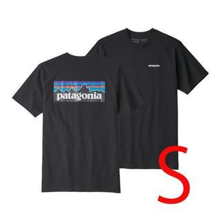 パタゴニア(patagonia)の新品 速達 即日発送 S パタゴニア P6 ロゴ Tシャツ 黒 ブラック(Tシャツ/カットソー(半袖/袖なし))