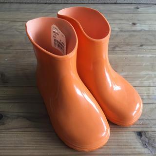 新品 未使用 レインシューズ 長靴 17cm オレンジ色 (長靴/レインシューズ)