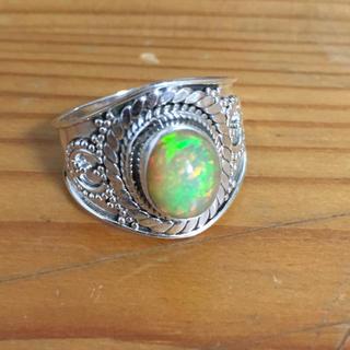 エチオピアプレシャスオパールリング新品未使用14号(リング(指輪))