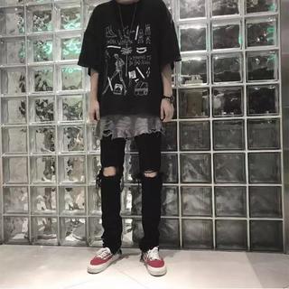 Arnodefrance ブラック メンズ Tシャツ S(Tシャツ/カットソー(半袖/袖なし))