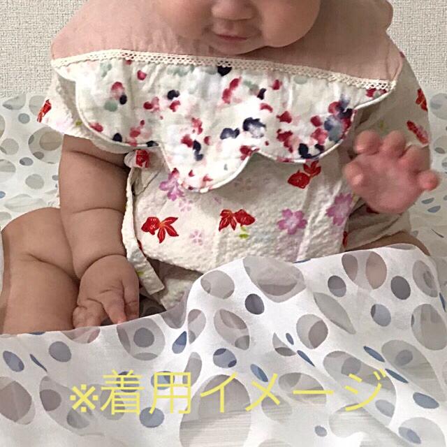 ふんわり♡お花スタイ ハンドメイドのキッズ/ベビー(スタイ/よだれかけ)の商品写真