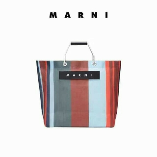 Marni - Marni  ストライプバッグ   コーヒー