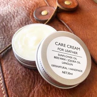 CARE CREAM / 皮革用蜜蝋クリーム 30ml レザーのお手入れに☺︎
